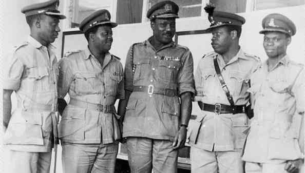 The First Head of State and the four Regional Governors that came to power as a result of electoral crisis in Nigeria.