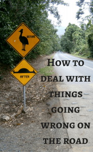 things going wrong on the road
