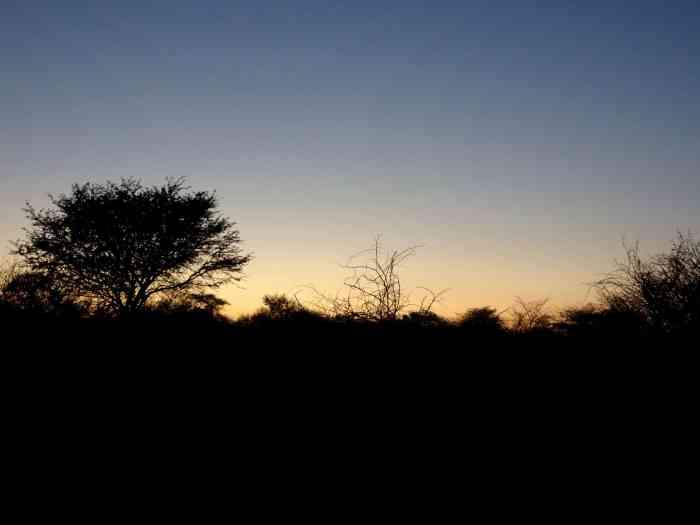 sunrise in Botswana