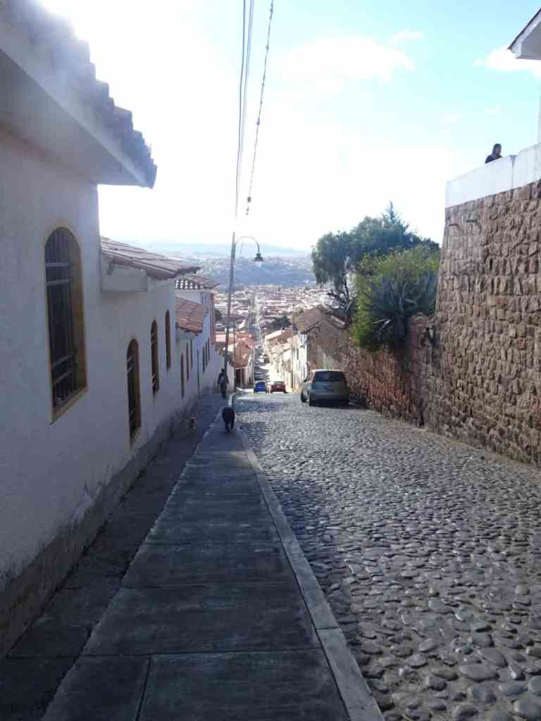Street leading down from Ricoleta Sucre