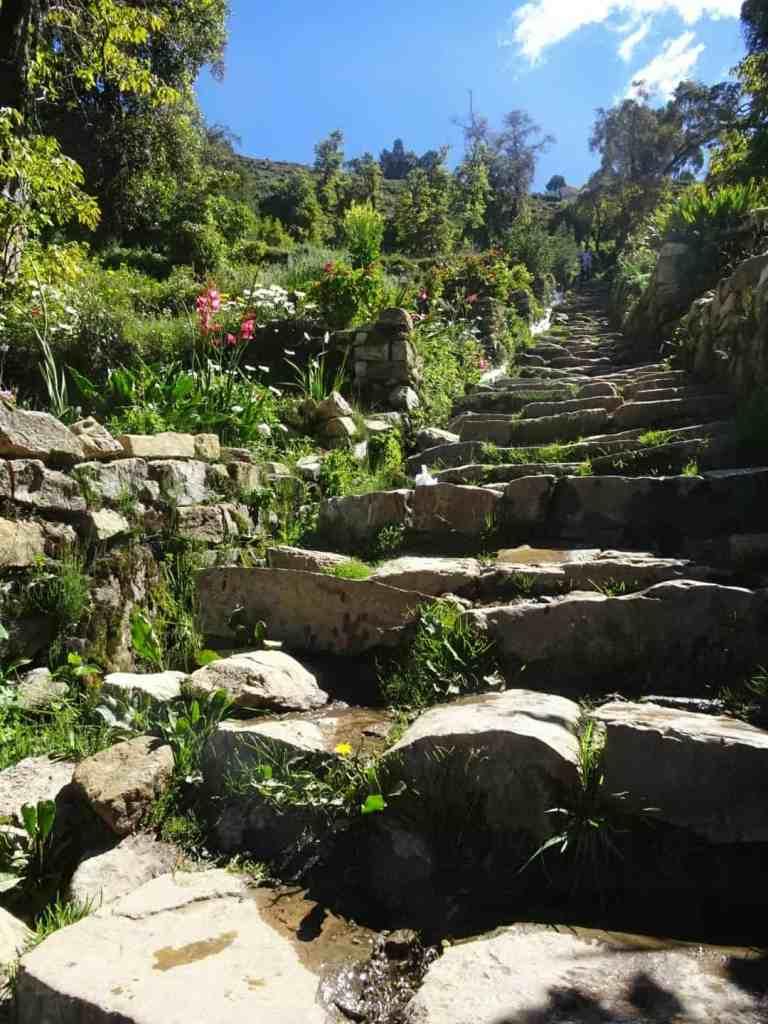 Inca Steps on Isla del Sol Bolivia