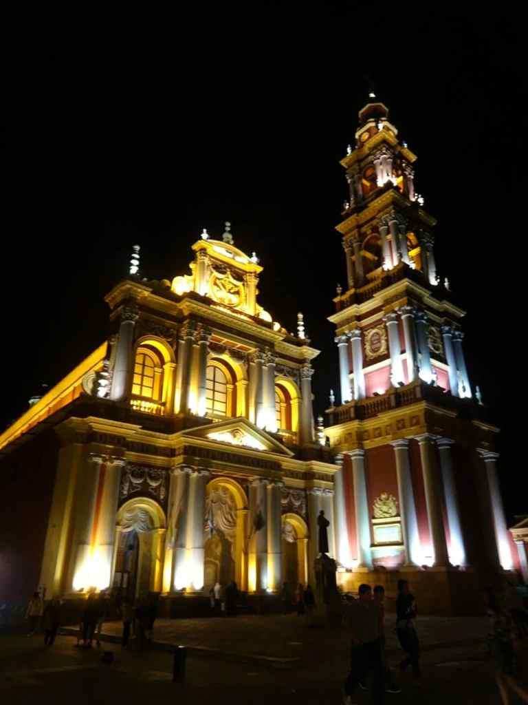 Salta Argentina by night