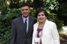 Dr. Alvaro Ramírez, Profesor de St. MAry's College of California y Dra. Antonieta Gallegos, Profesora de California state University San Bernardino