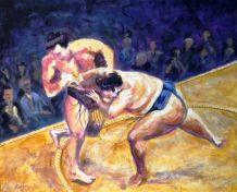 Artist: Mike Halem Title: Sumo Wrestling
