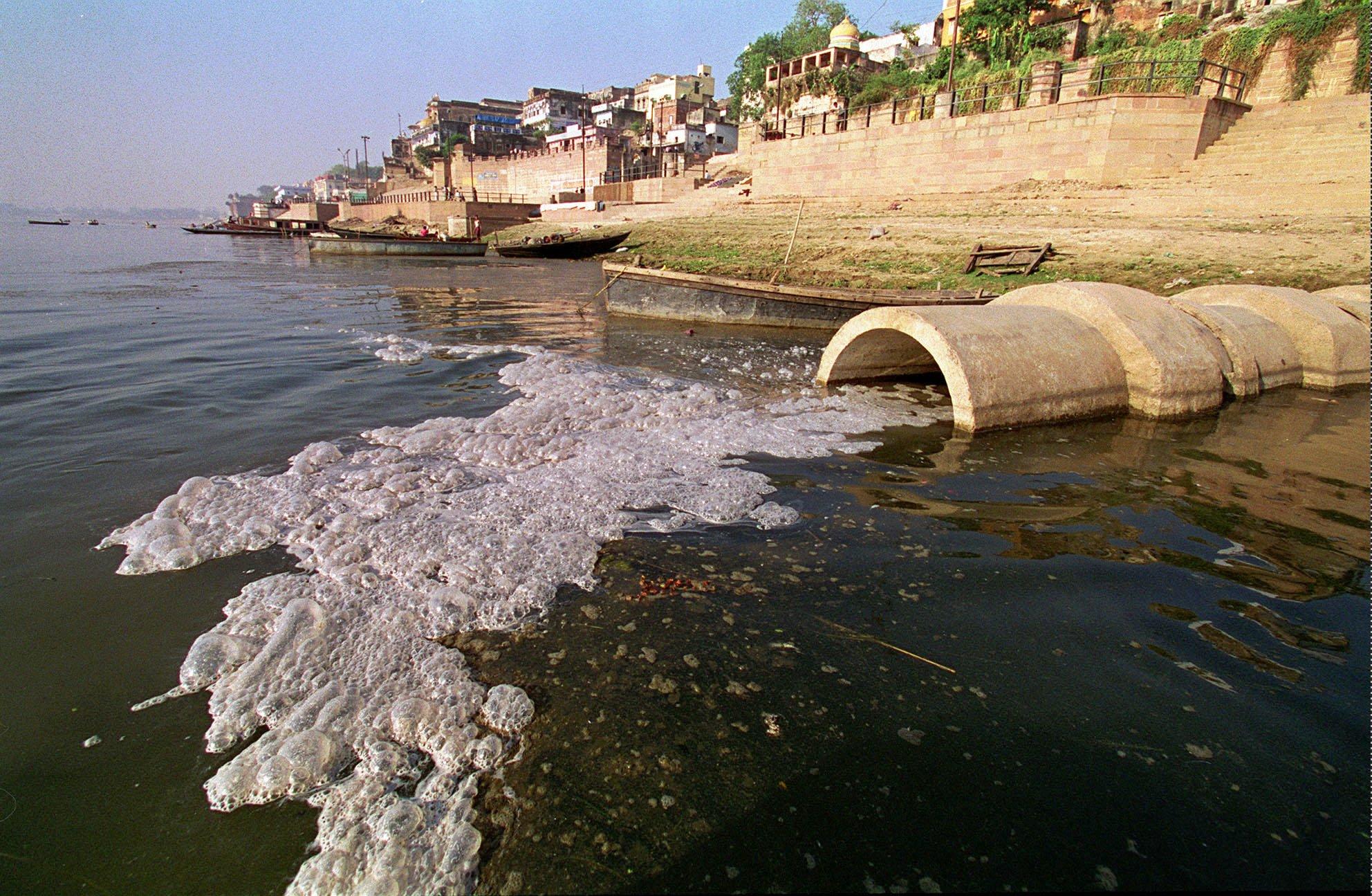 Image result for drain ganga river