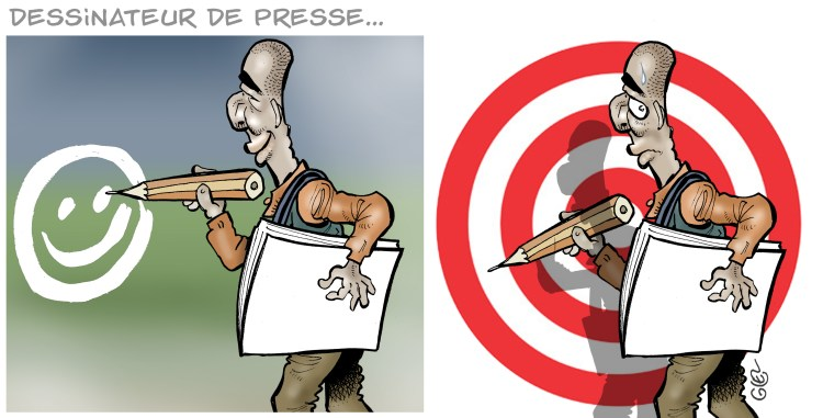 Glez was a member of Cartoonists for Peace along with some of the slain Charlie Hebdo cartoonists. (Courtesy Damien Glez)