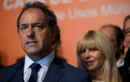 Buenos Aires governor Daniel Scioli, a member of Kirchner's Peronist alliance, leads presidential polls despite the Nisman scandal. (AP Photo/Natacha Pisarenko)