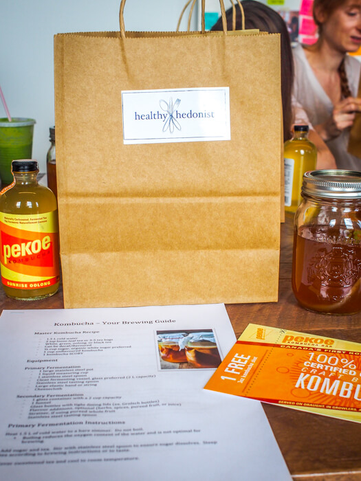 Full brewing Kombucha instructions and supplies