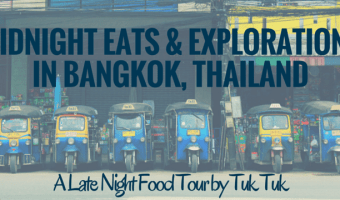 Midnight Eats and Explorations in Bangkok, Thailand
