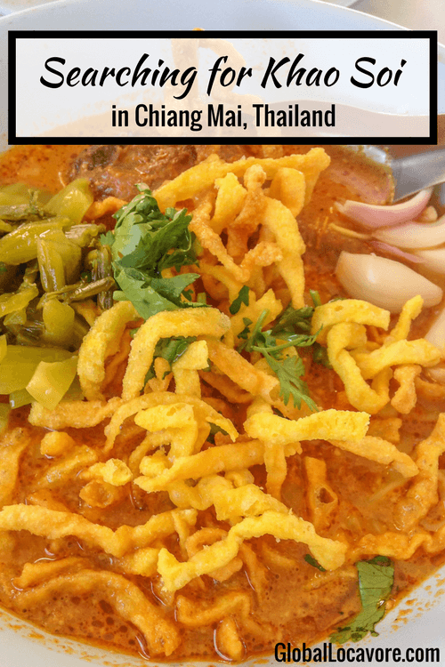 I'm off in search of authentic Khao Soi in Chiang Mai, Thailand. I indulge in a bowl of creamy, spicy, tangy chicken curry soup that I still dreaming about.