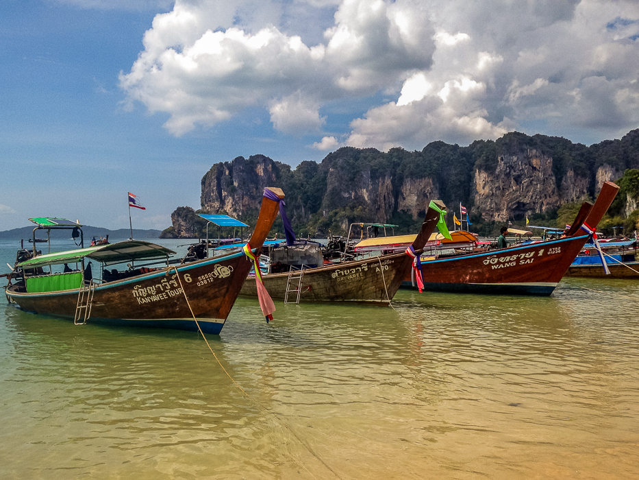 Railay classic Thai longboats