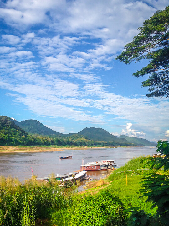 mekong river central laos luang prabang slow boats