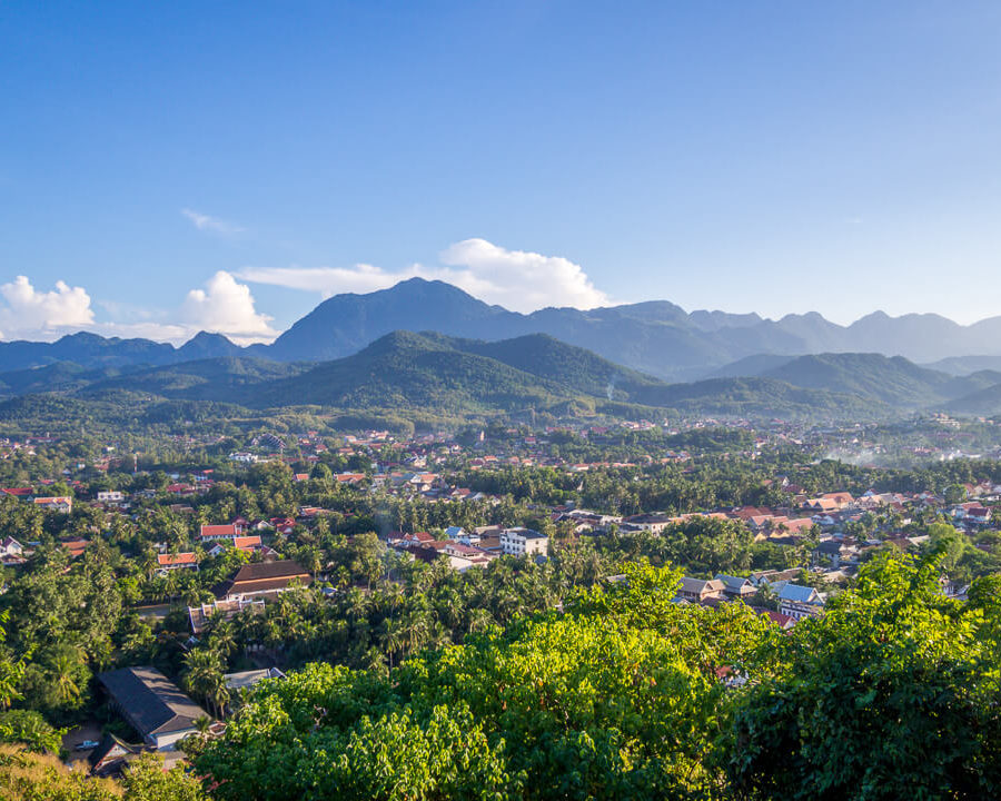 view mount phu si luang prabang central laos
