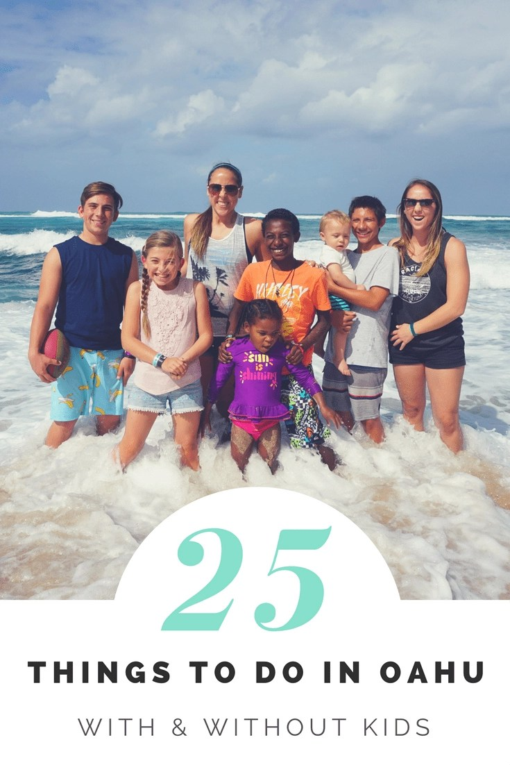 Find the best things to do in Oahu with and without kids. The best 10 things from a travel writer & mom of 5 divided by age. 25 things to do in Oahu in all. #oahu #oahuwithkids #thingstodoinoahu
