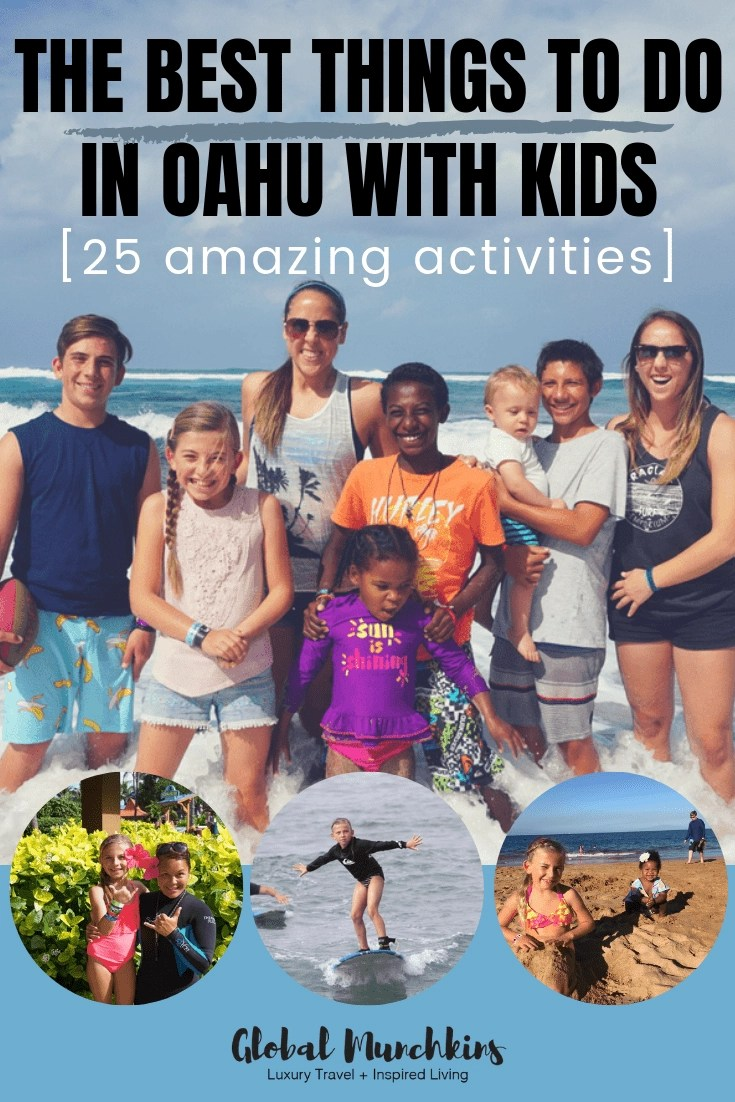 Hawaii is one of the munchkins favorite destinations and rightfully so as there are SO many things to do in Oahu alone and best things to to in Oahu with kids. Check out these 25 amazing activities! #hawaii #hawaiivacation #familytravel #travelwithkids #traveltips #vacation #oahu #beach #adventure #snorkel #travelexperience