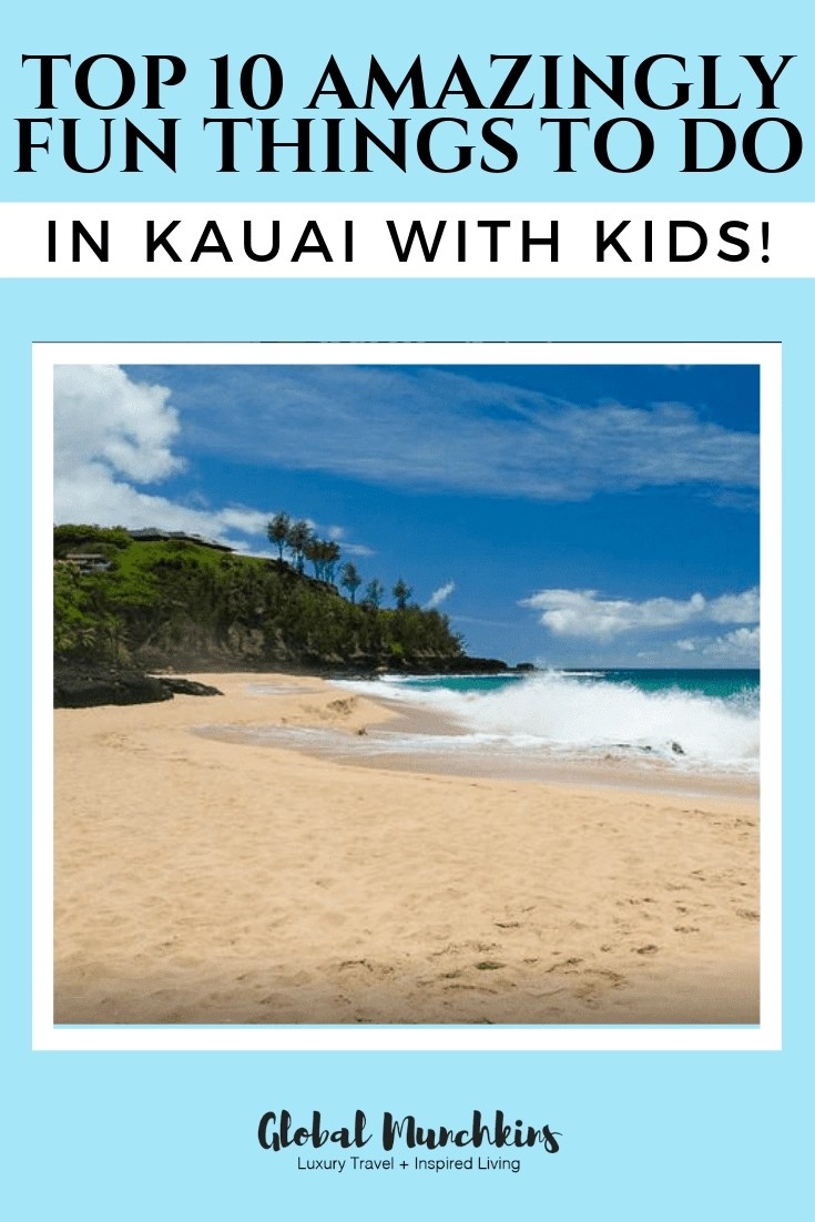 Hawaii is a destination my munchkins always look forward to. It is the perfect place for families to relax, bond and play together. We have visited Maui, Oahu, and Kona many times but this will be our first visit to the island of Kauai. I thought I would share some of the top things to do in Kauai with Kids! #hawaii #hawaiivacation #familytravel #traveldestinations #traveltips #travel #wanderlust #thingstodoinhawaii #vacationtips