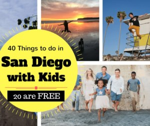 40 Things to do in San Diego with Kids and 20 of them are FREE. Click for the list of the BEST things to do in San Diego with kids.
