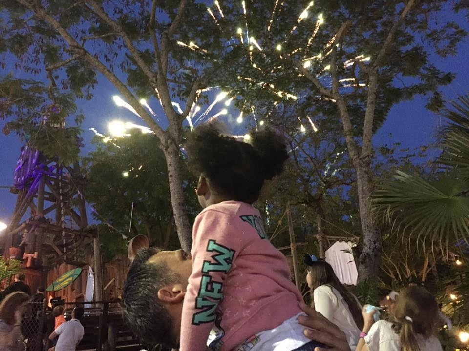 Private 3D Fireworks at Typhoon Lagoon. A private beach party for Disney SMMC | Global Munchkins