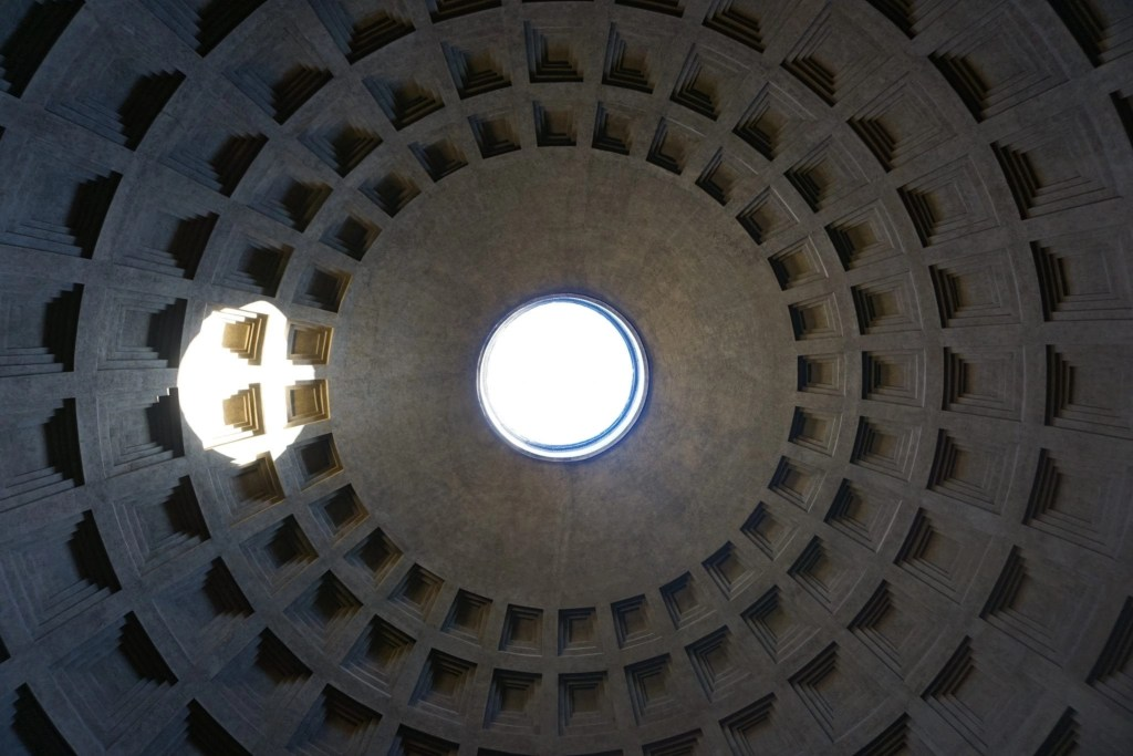 A photo of the Pantheon Ceiling in Rome Italy- Global Munchkins