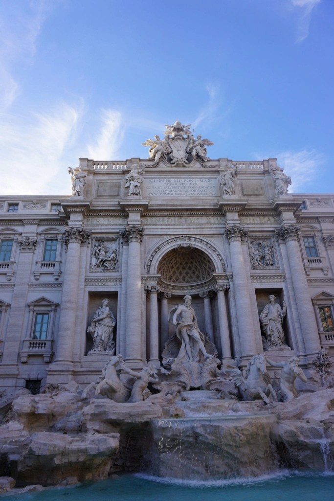 Gorgeous daylight photo of the newly restored Trevi Fountain