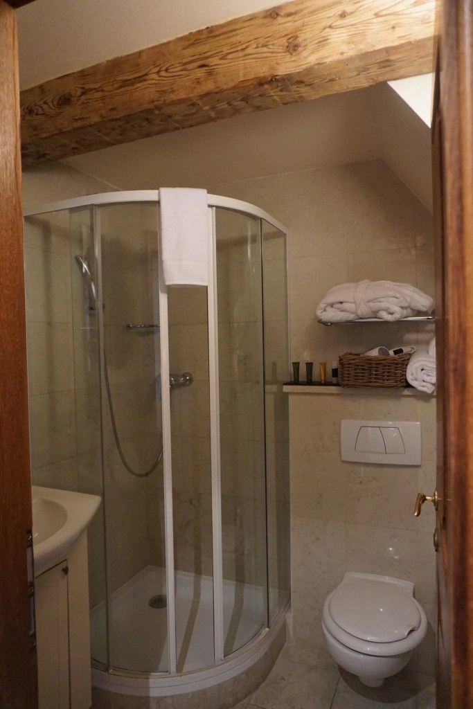 Shower at The Nicholas Hotel Residence in Prague. A review by Global Munchkins