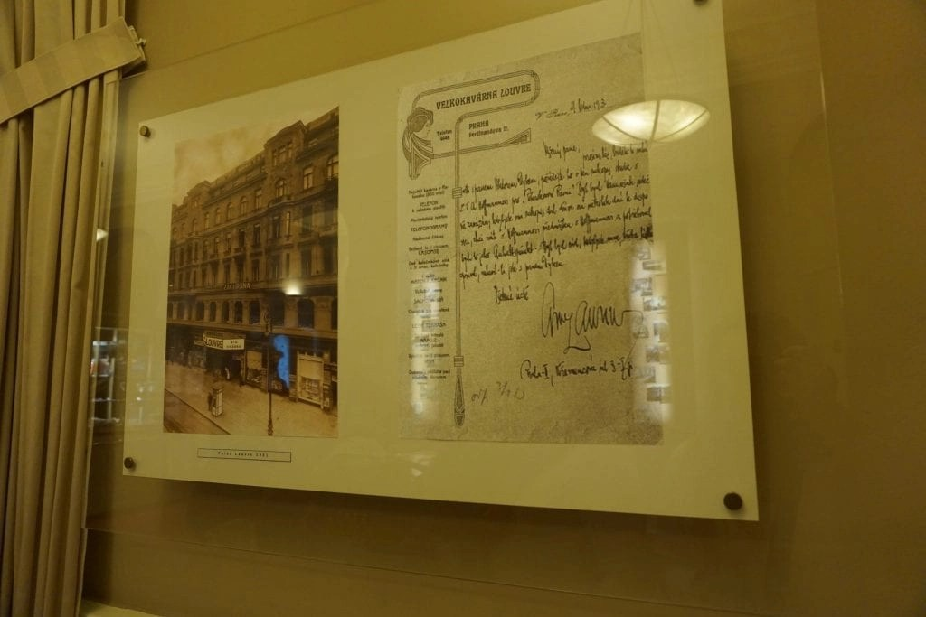 Louvre Restaurant Copy of Notes from Famous Visitor like Mozart and Einstein