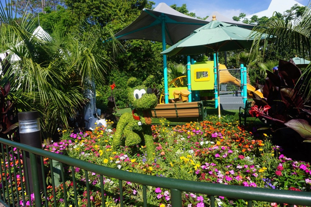 Pluto at Epcot's International Flower and Garden Festival | Global Munchkins