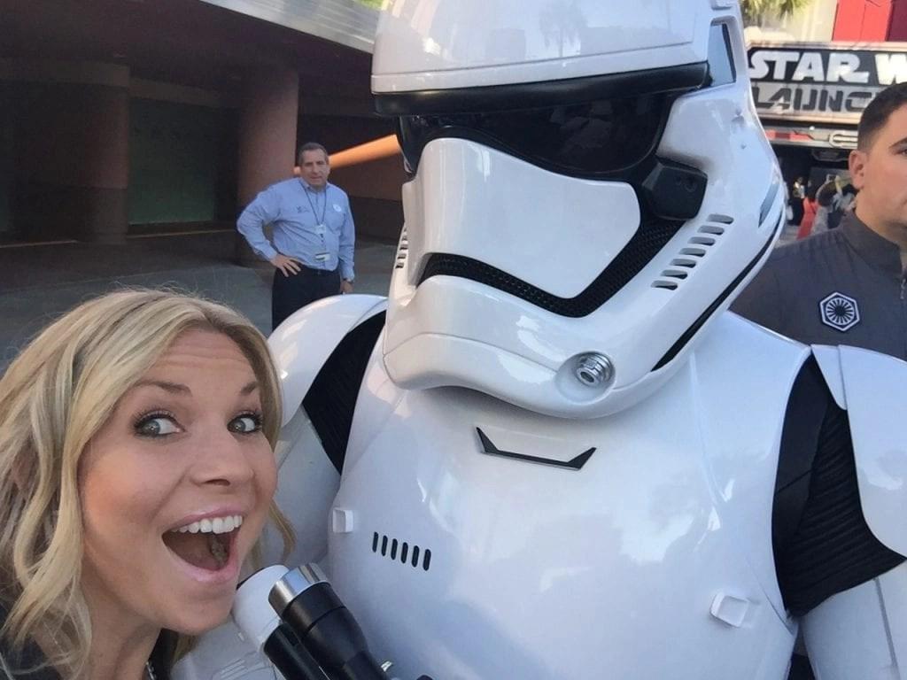 Storm Trooper Selfie at Hollywood Studios | Global Munchkins