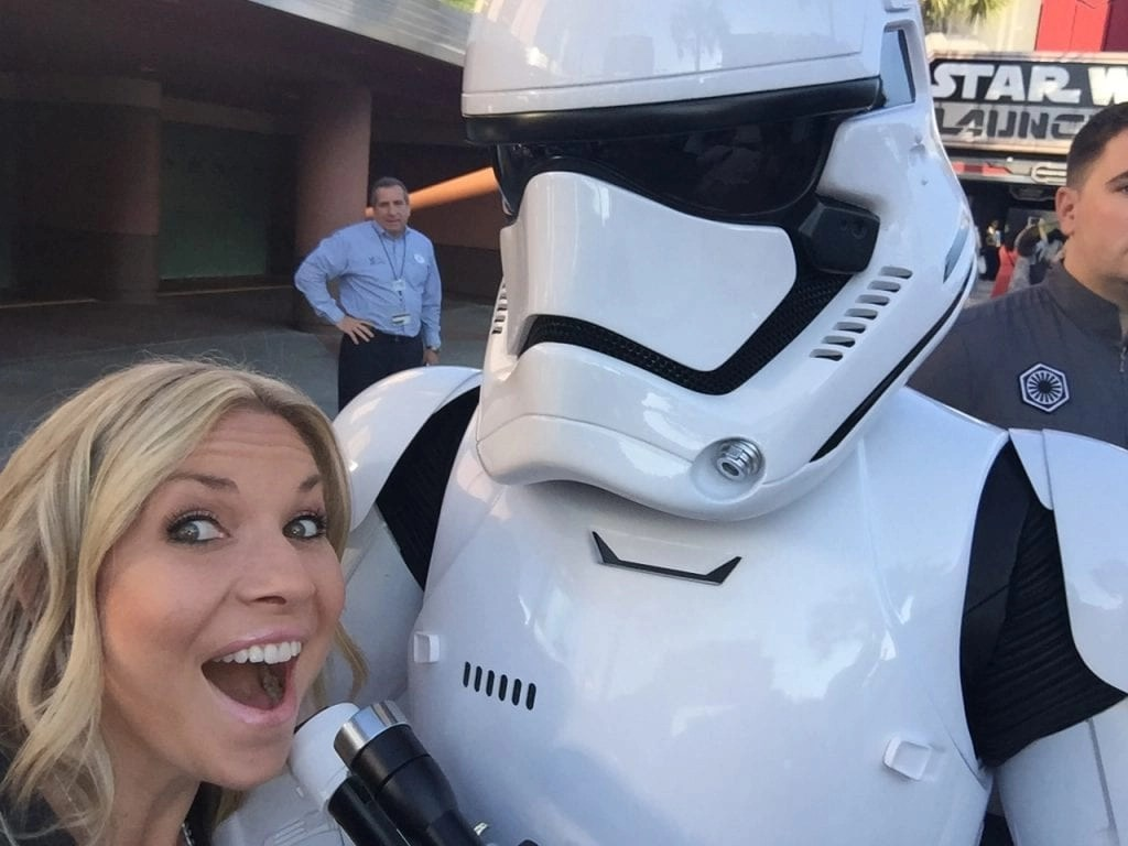 Storm Trooper Selfie at Hollywood Studios | Global Munchkins