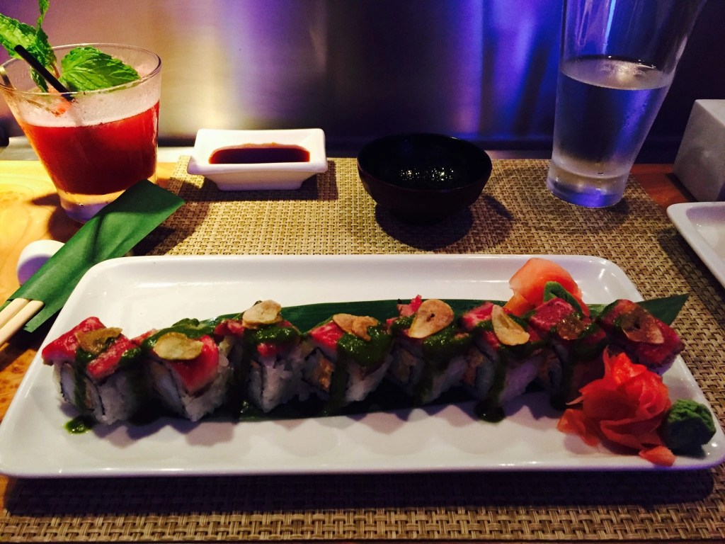 Sushi from Wasabi on the NCL Getaway