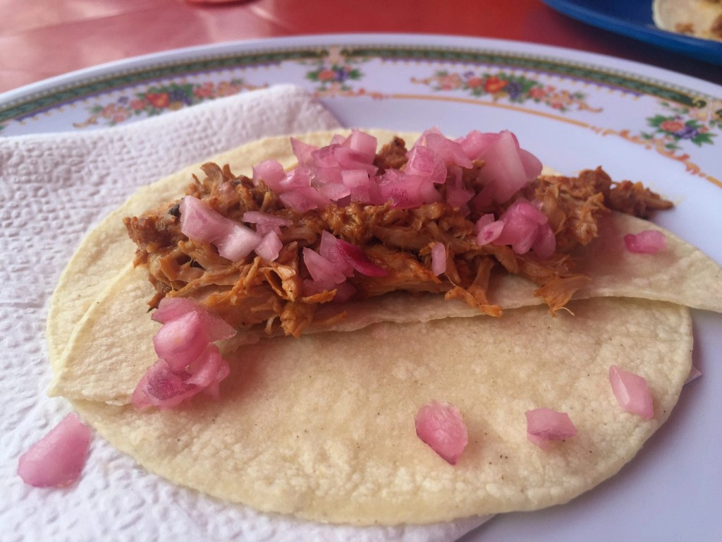 Delicious Pork Taco in Mexico