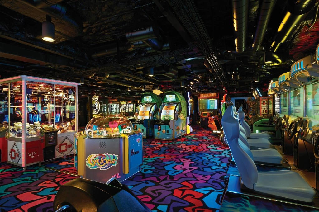 Arcade onboard the Norwegian Getaway