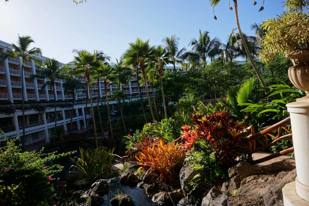 Grand Wailea Hotel Grounds view from roon