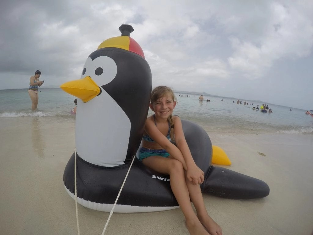 Penguin Float at Palomino Island