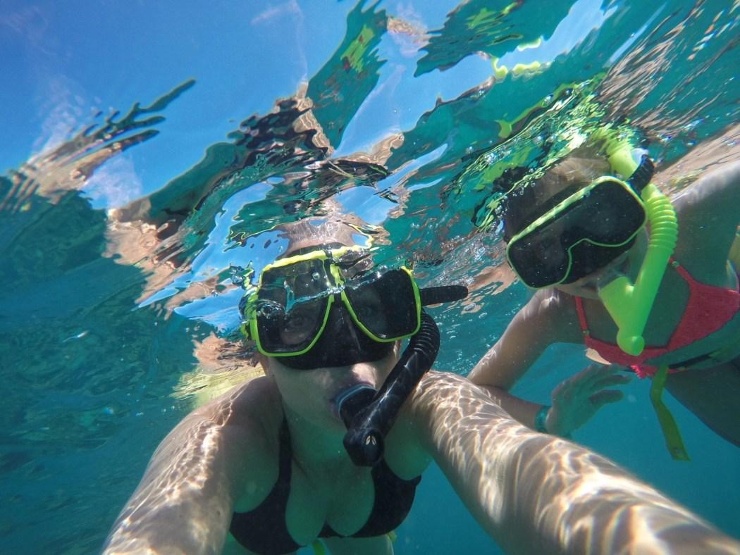 Snorkeling at El Conquistador Resort. in Puerto Rico at Lobo Natural Park
