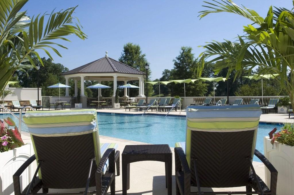 Outdoor Pool at the Ballantyne Resort in NC   Global Munchkins