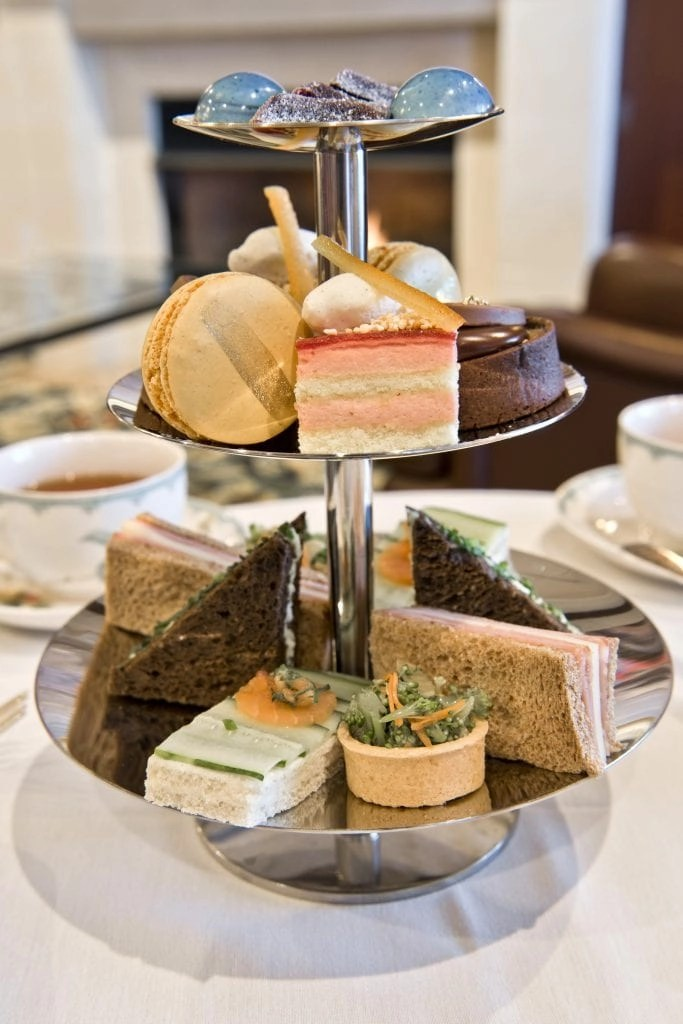 Afternoon Tea at The Gallery Restaurant at The Ballantyne Hotel in North Carolina