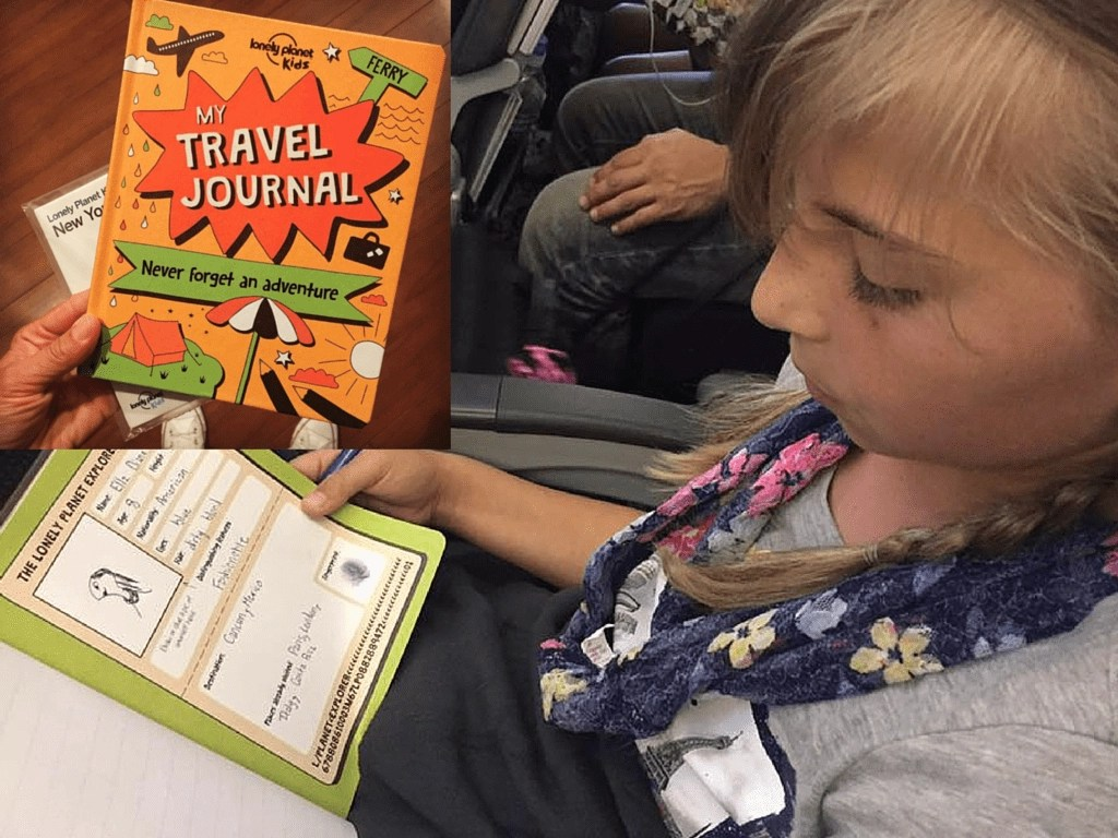 Lonely Planet Kids Travel Journal. Lonely Planet Kids book review and giveaway | Global Munchkins