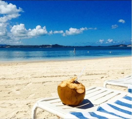 Relaxing by the ocean at El Con Resort