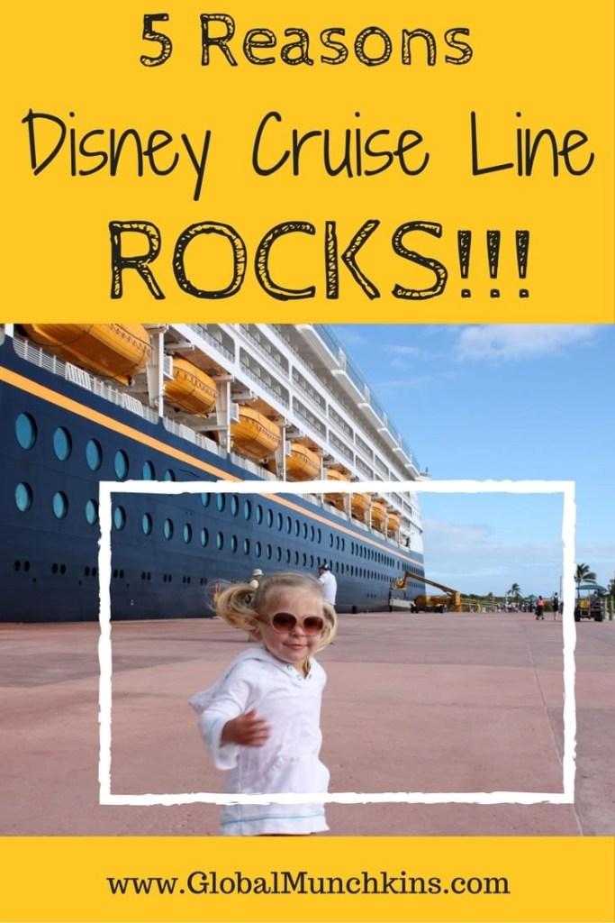 Learn 5 reasons we think Disney Cruise Line Rocks | Global Munchkins