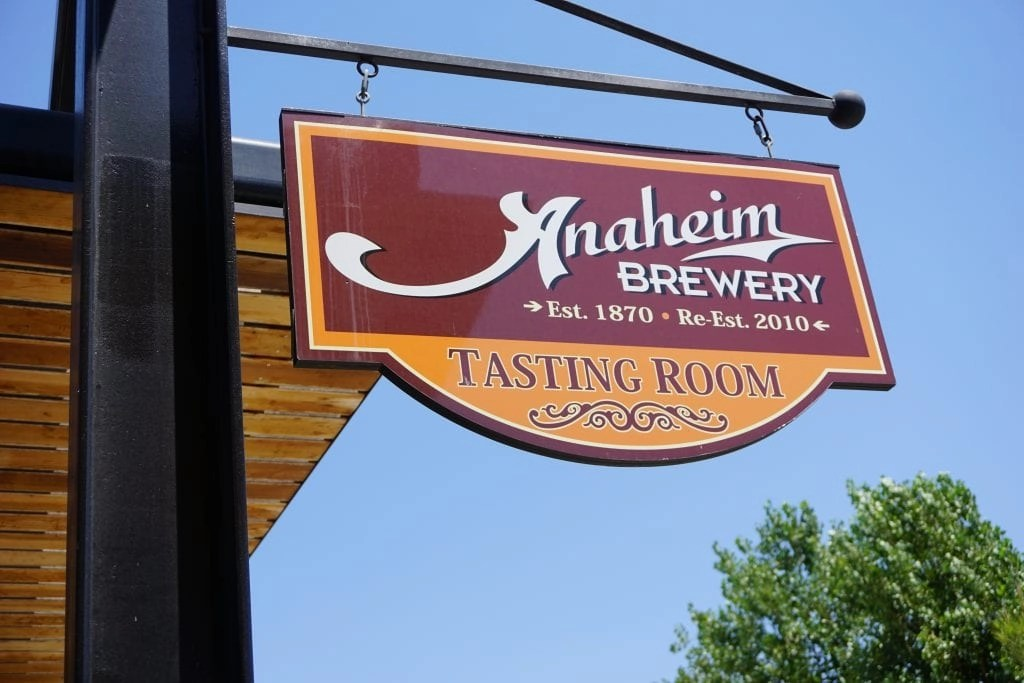 Anaheim Brewery sign. Located across from the Packing District in Anaheim.| Global Munchkins