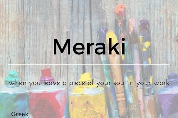 Meraki 13 words not in the English Language