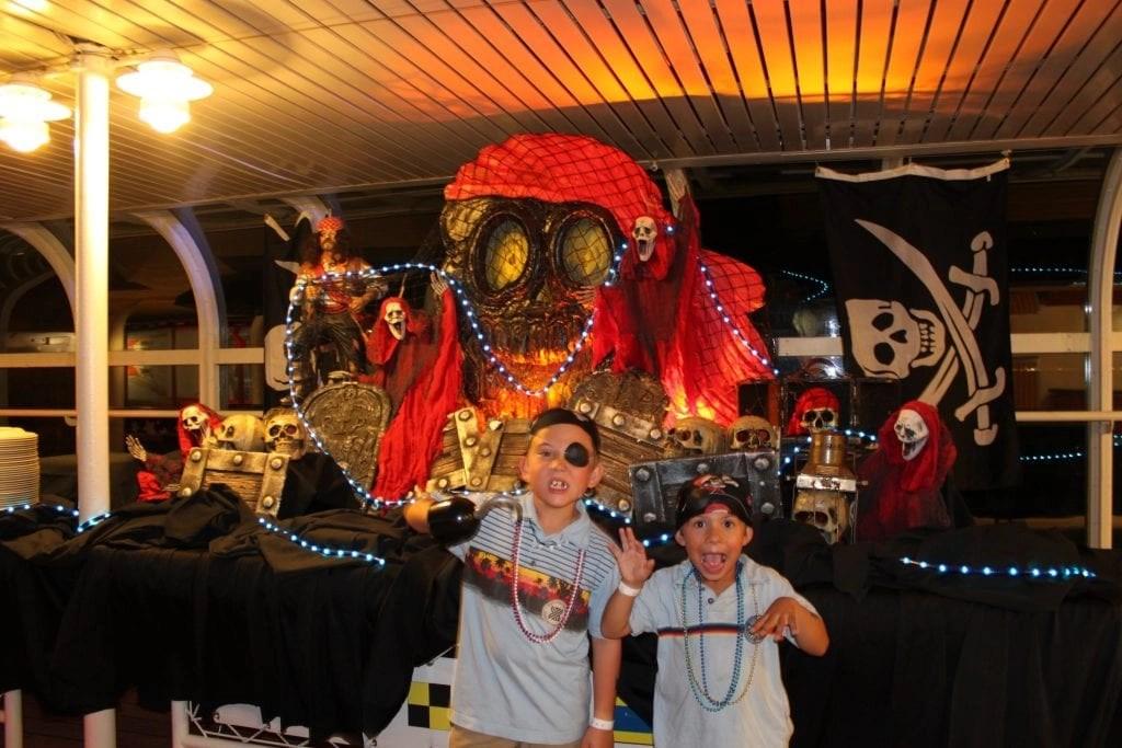 Boys dressed like pirates for Disney Cruise Line Pirate Night | Global Munchkins