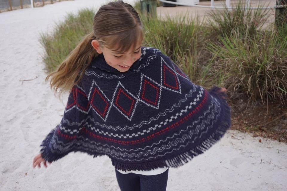 Knit Poncho for girls by OshKosh