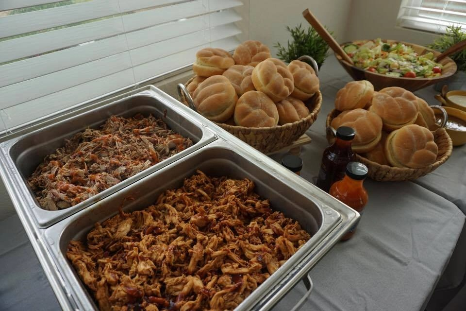 Full service or buffet catering options offered by Lucille's BBQ. A wonderful choice when catering your next event