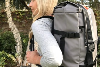 Gray Large Rucksack Backpack by Just Porter