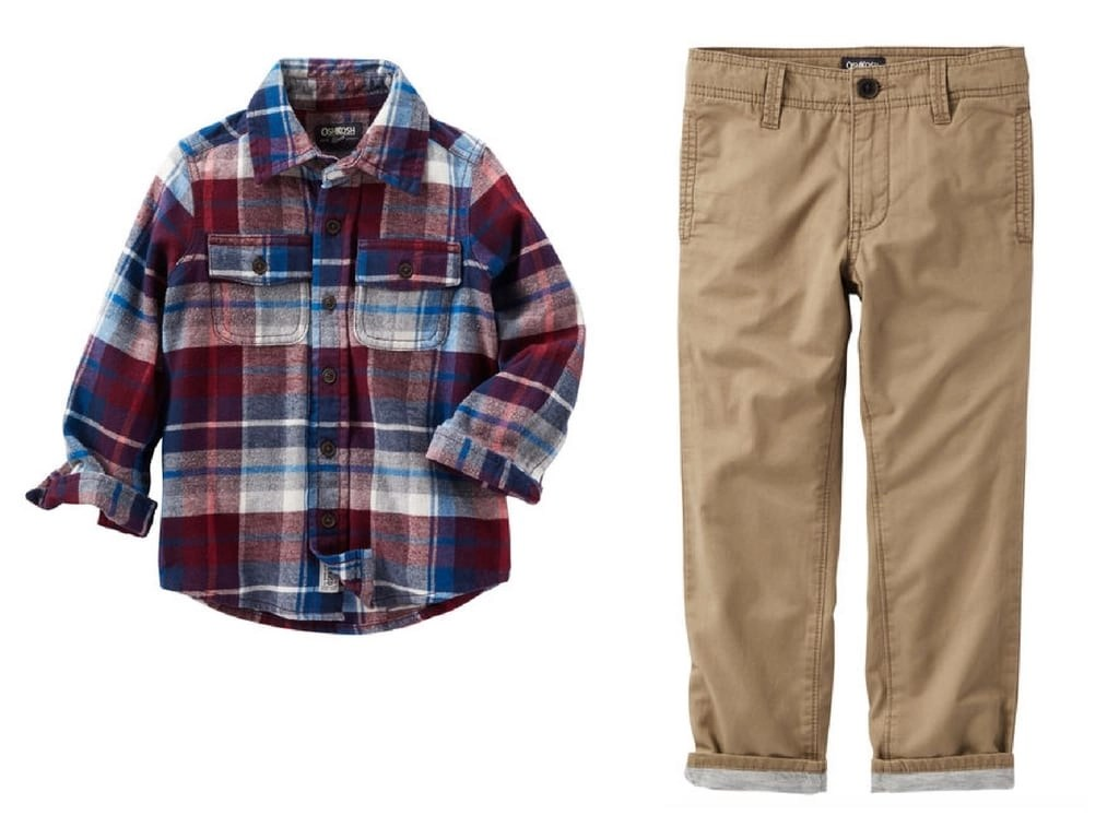 Perfect boys outfit for a holiday family photo shoot from OshKosh