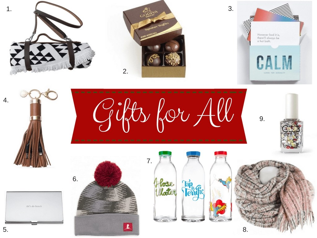 Struggling to find the perfect gift for teachers, babysitters, hair stylists and that crazy aunt. Stumped on what to buy for the office white elephant gift exchange. Have no fear your gift guide for all is here.