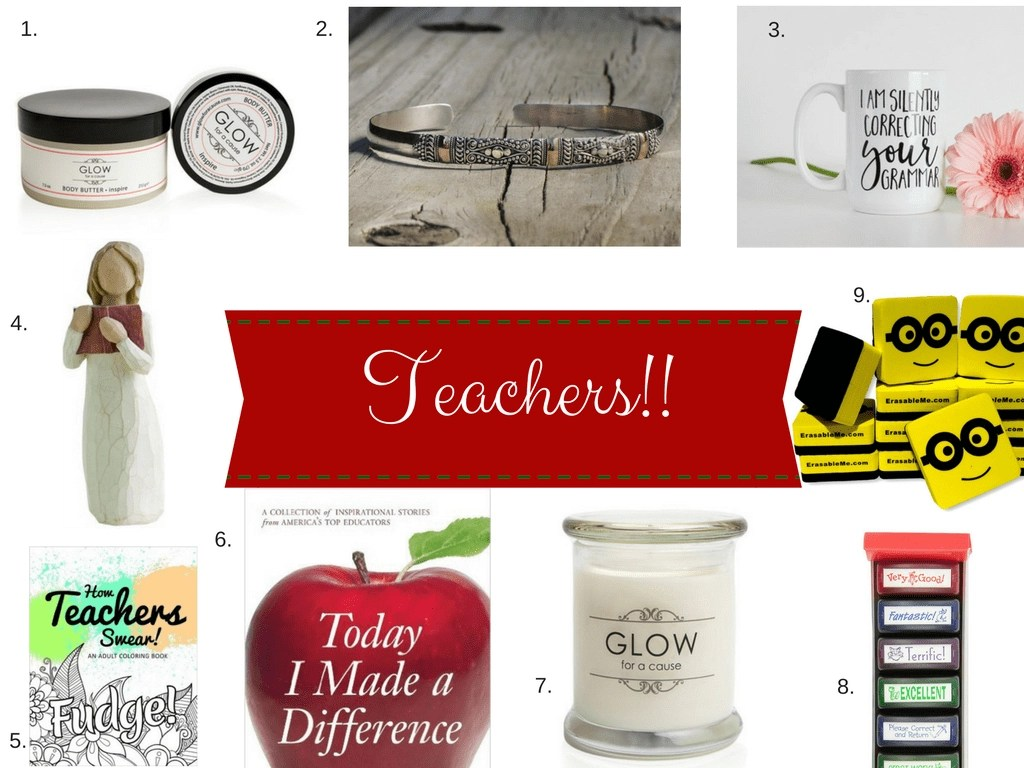 A list of the perfect teacher gifts. Give your teacher a gift that they actually want and will use this holiday season with these great teacher gift ideas