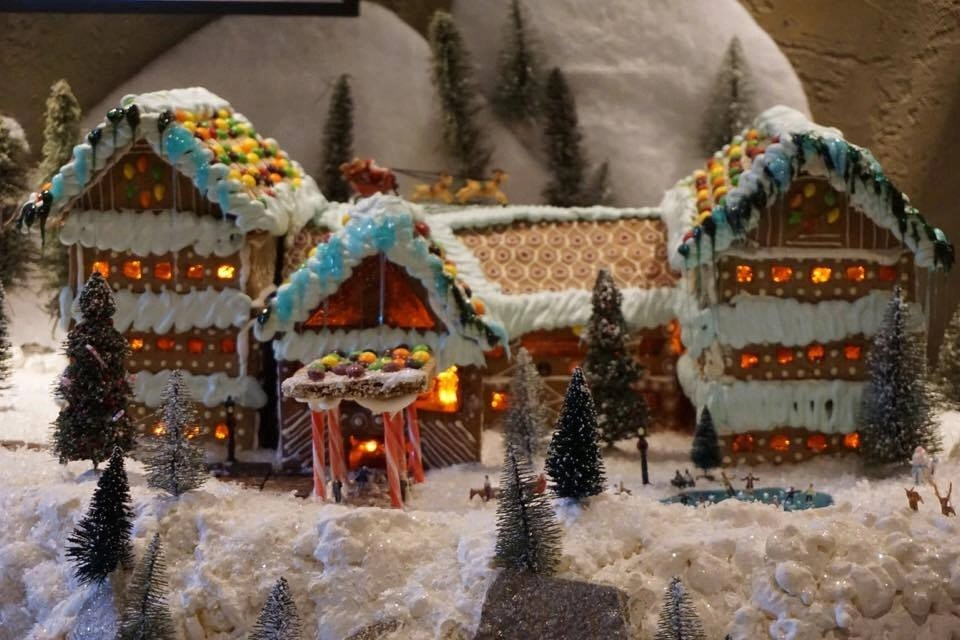 The culinary team teaches gingerbread workshops during the holidays at Tenaya Lodge.